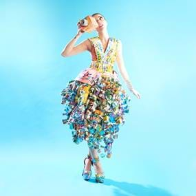 LaCroix women in dress lifestyle and product photography