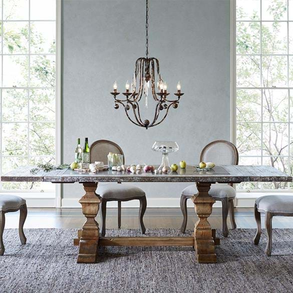 Wilhelm Bluestone white dining table after photo manipulation