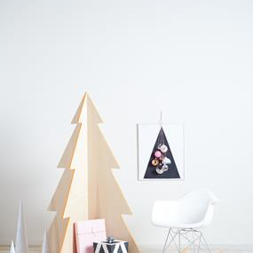 Craft Crashers wooden Christmas tree product photography