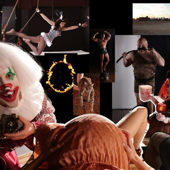 Circus marketing promo before photo composite and manipulation