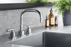 CGI sink with round faucet