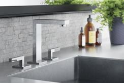 CGI sink with square faucet